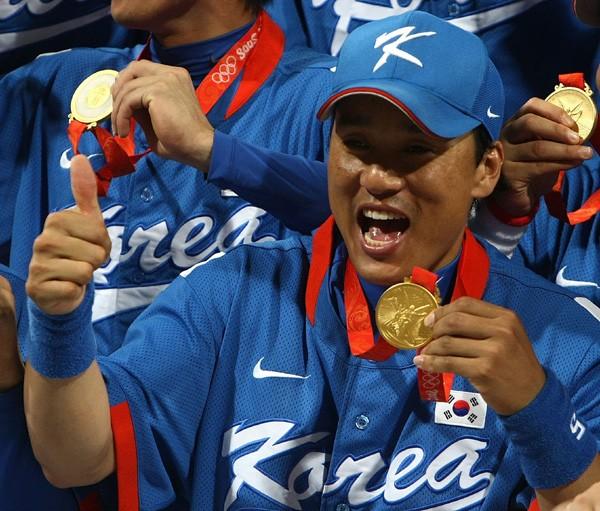 韓国の主砲・李承ヨプ。1次リーグは不振だったが、準決勝、決勝では本塁打を放った
