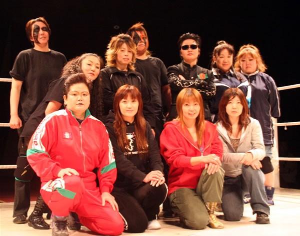 FMW女子部の選手たちが集合。懐かしい顔ぶれが勢ぞろいした
