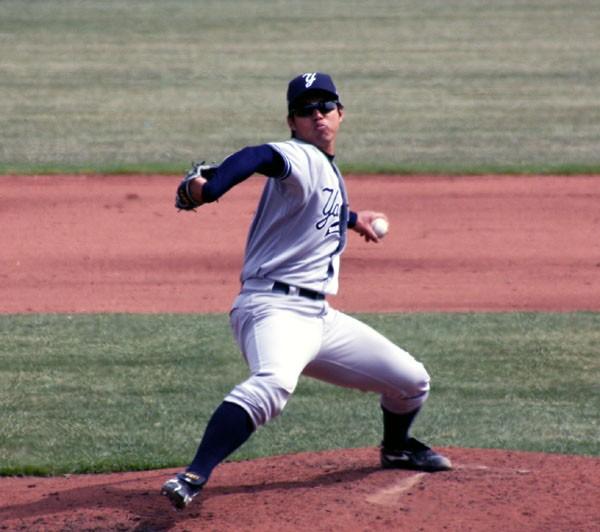 ヤンキース傘下のマイナーリーグ3Aで今季初登板する井川。5回5失点ながら勝ち投手になった