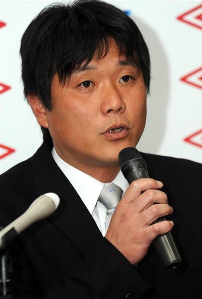 連覇を目指すと語ったSAGAWA SHIGA FCの中口監督