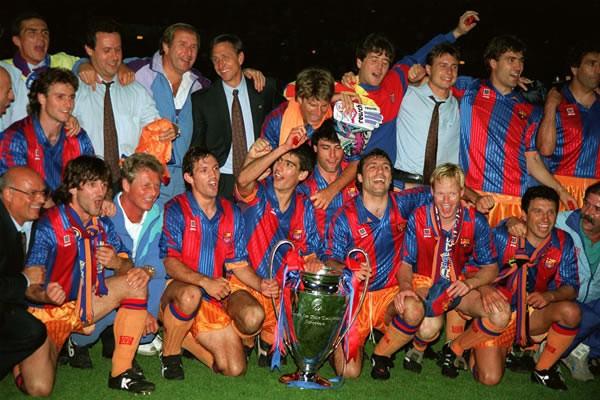 クライフ率いるバルセロナは92年、初の欧州王者に輝いた