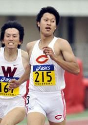 6月の日本学生個人選手権では、男子200メートルで大会新記録をマーク。世界ジュニアへ向け、着実にコンディションを上げていた