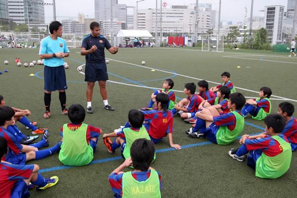 久保君のバルセロナ入団の物語は、日本で行われた「FCバルセロナキャンプ」から始まった(写真は11年のキャンプのもの)