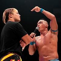 谷崎(左)のドリームゲート挑戦表明に対し、CIMAは「CIMAロワイヤルに勝ち上がってこいや!」と一蹴