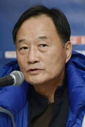 クラブW杯・5位決定戦を追え、会見に臨んだ蔚山現代のキム監督(写真は11日の会見のもの)