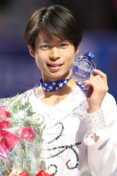 GP開幕戦で優勝を飾った町田。ソチ五輪代表へ、印象強い演技を見せた