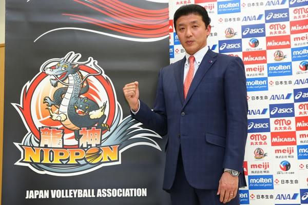 全日本男子の監督に就任した南部正司氏。「全日本を復活させたい」と抱負を語った