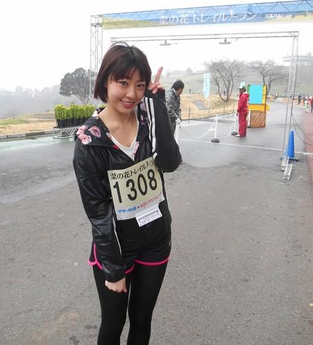 AKB48・藤江れいなさんがマザー牧場「菜の花トレイルラン」を盛り上げた