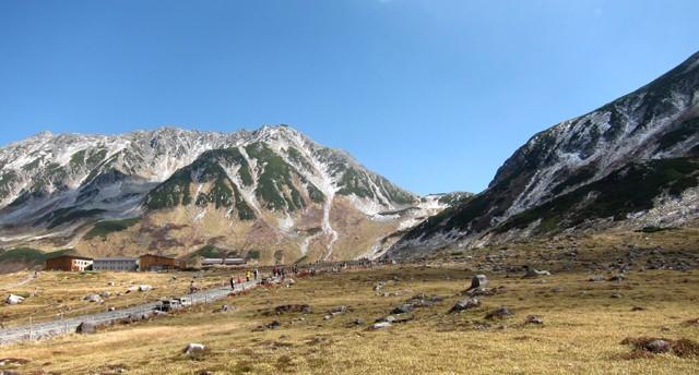 北アルプス・立山室堂から見える山々