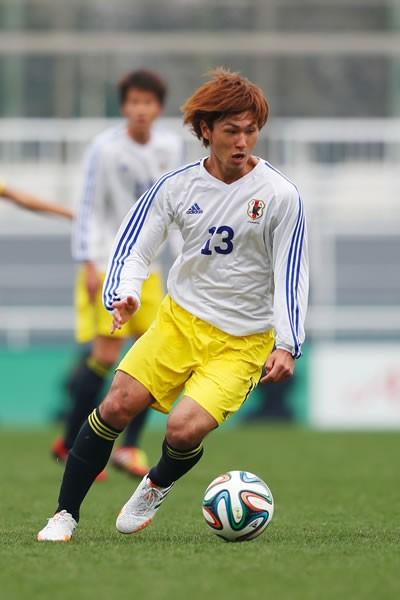 西が丘で行われたU−21とU−19の練習試合に出場したC大阪の南野。全得点に絡む活躍を見せた