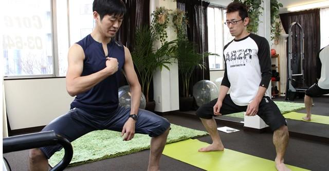 骨盤を支える4つの大きな筋肉が同時に鍛えられる