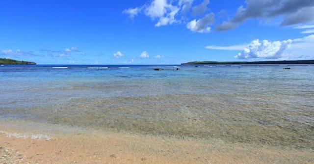 サイパンの青く澄んだ海