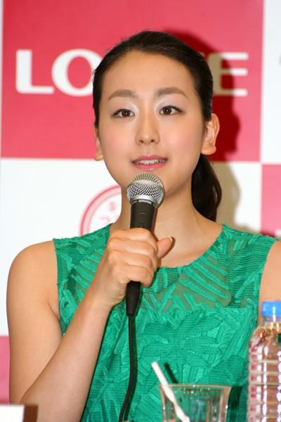 アイスショー「THE ICE」の開催記者会見で、1年間の休養を発表した浅田真央