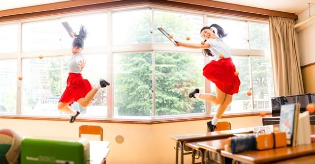 学校でオフィスで新感覚エコ卓球! 四元奈生美も参戦!? 卓球博覧会