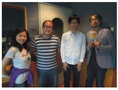 番組出演後、小山さん、柳井さんと記念撮影(FUTURESCAPE番組ウェブサイトより)