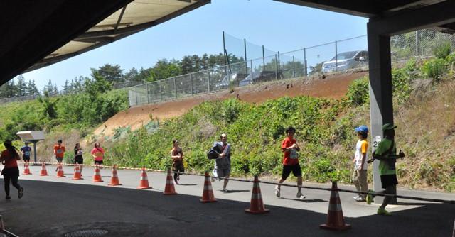 競輪場の施設全体がマラソンコースに