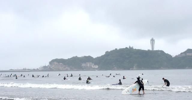 いざ湘南、江ノ島を望む鵠沼海岸へGO!