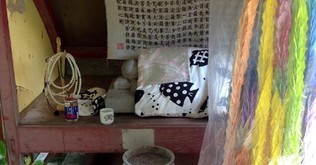 弘法大師が橋の欄干で寝泊まりをしたと言われる場所がある弘照院