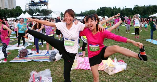 走り切ってヘトヘトなはずなのに、みんなとっても楽しそう!