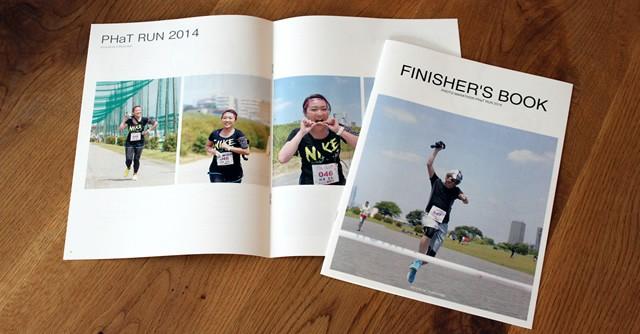 出場者それぞれの写真でつくられた、世界で1つの完走証「FINISHER'S BOOK」