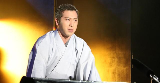 見事な口上を披露した尾上松也さんは「僕もスポーツが大好き。月1ぐらいで野球もやっている」と語っていた