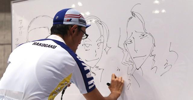 渡辺先生の即興イラストにファンからは大歓声