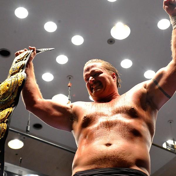 FD第2弾興行には全日本プロレスの三冠王者ジョー・ドーリングがメインに参戦。小橋さんは「将来、ハンセンやウィリアムスのような選手になってほしい」と大きな期待をかける