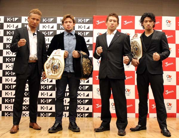 −60kg級トーナメントに出場する日本人4人。初代王者はこの中から生まれるのか!?(写真左から島野、卜部弘、山本、卜部功)