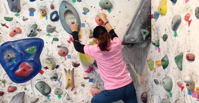 全身運動のボルダリングに挑戦! 「松原渓のスポーツ百景」
