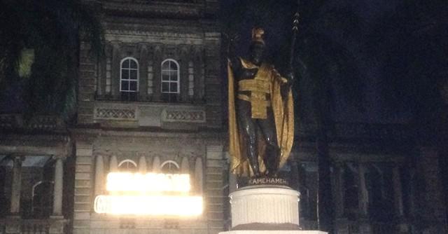 4キロ過ぎで見えてきたのはカメハメハ大王像