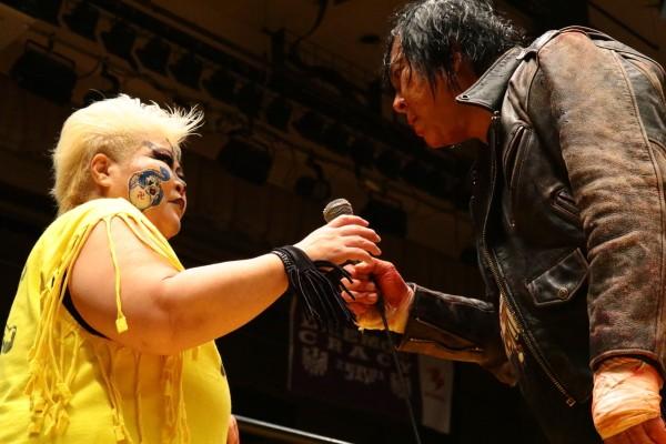 大仁田の電流爆破勧誘にダンプは「いつでもやってやる」