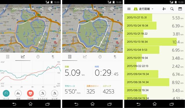 走行ルートや距離、消費カロリーなども計測できる