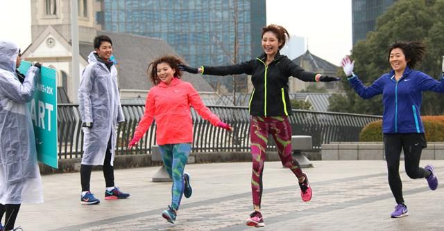 「名古屋ウィメンズマラソン2015/名古屋シティマラソン」開催の1カ月前に行われたランニングイベントで、20kmを走りきったizuさん