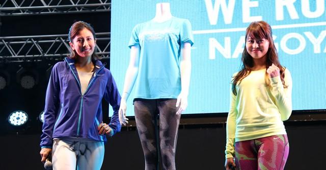 鮮やかなブルーのフィニッシャーTシャツは長谷川理恵さん(左)もお気に入り