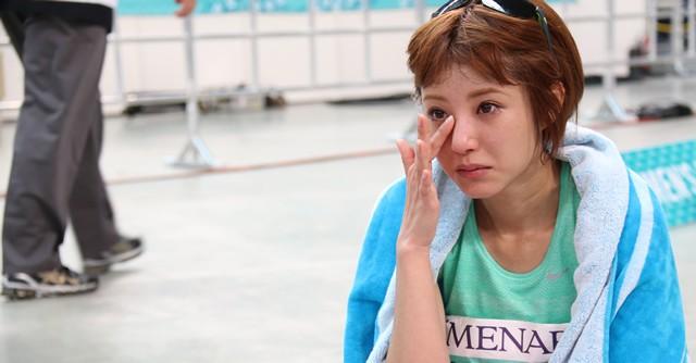 モデルizuさんも見事完走、ゴール直後は涙が止まらなかった