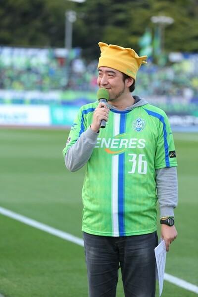 03年より湘南のスタジアムナビゲーターを務める三村ロンド