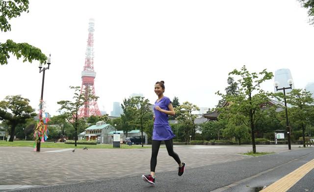 東京タワーに見守られながらのランニングはテンションが上がります!