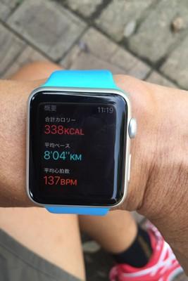 ランを終了させると合計距離、合計時間、アクティブカロリー、安静時消費カロリー、合計カロリー、平均ペース、平均心拍数といった項目が表示される