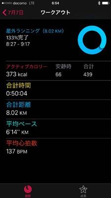 ワークアウトの走行データはiPhoneのアクティビティアプリに蓄積され、確認することができる