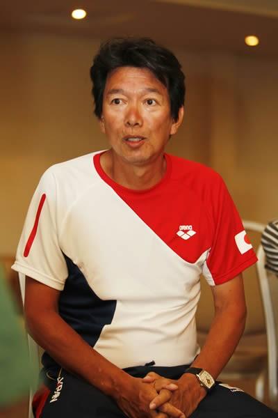 入江を長年指導している道浦コーチ。ロンドン五輪後は、2人の関係にも変化が見られた