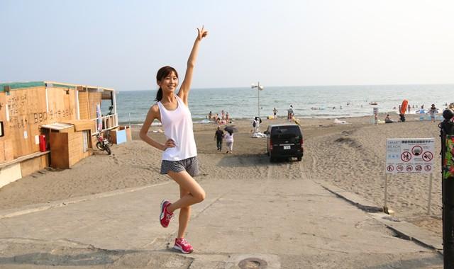さあ、海岸沿いを走るぞー!