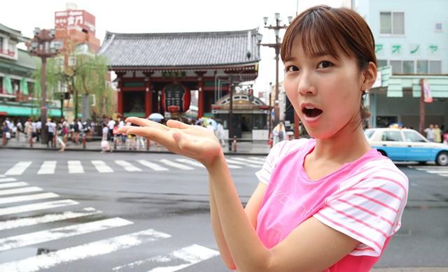 休憩がてら浅草寺に寄り道、観光ランとしても活用できそうだ
