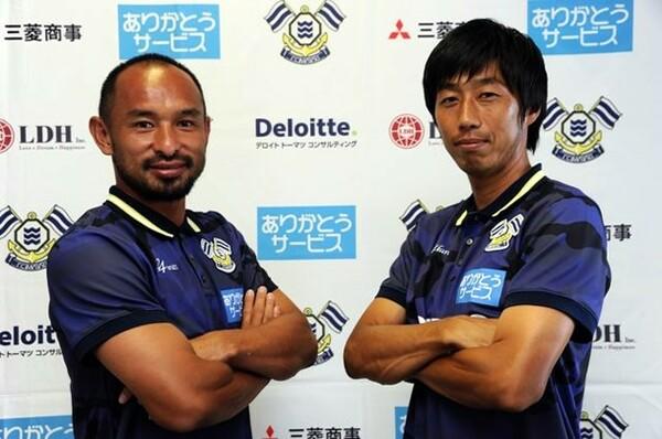 この夏、今治に加入した山田卓也(左)と市川大祐。彼らは何を求めて今治にやってきたのか