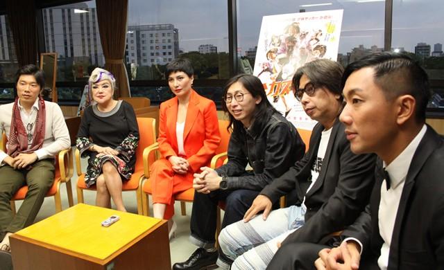 (左から)波多野裕介さん、スーザン・ショウ、ジョシー・ホー、ヘンリー・ウォン監督、アンドリュー・ラム、ウィルフレッド・ラウ