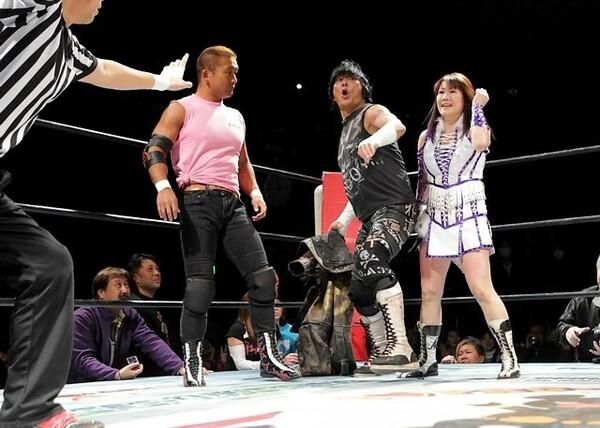 憧れだった大仁田と同じリングに立つことになった亜利弥'