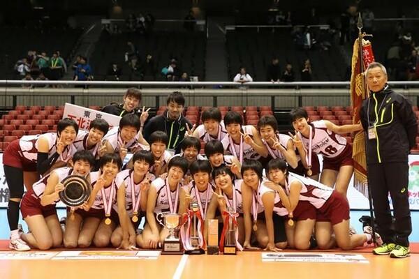 3年ぶり3度目の優勝を飾った下北沢成徳。東京第3代表から、一気に頂点へ駆け上がった