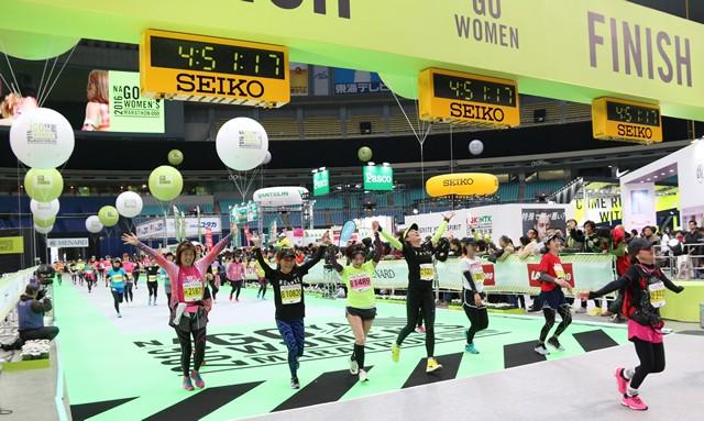 ランガール世界一の祭典、今年も華やかに 名古屋ウィメンズマラソン2016