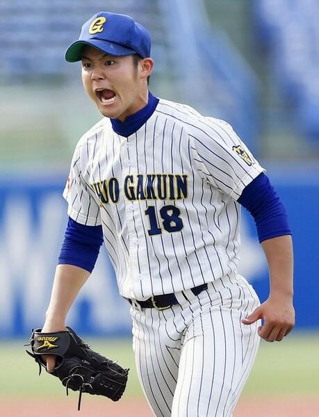 リーグ戦で4勝を挙げた田辺。全日本大学選手権では準決勝で初登板となったが7回1失点と仕事を果たした