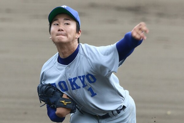 7月の日米大学野球の日本代表候補に選出された東大・宮台。1983年の大越健介投手以来となる東大では史上2人目となる日本代表を狙う