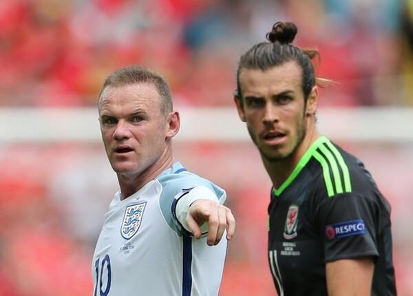 """ユーロで実現したイングランド対ウェールズの""""英国対決""""。国内は試合前から盛り上がりを見せた"""